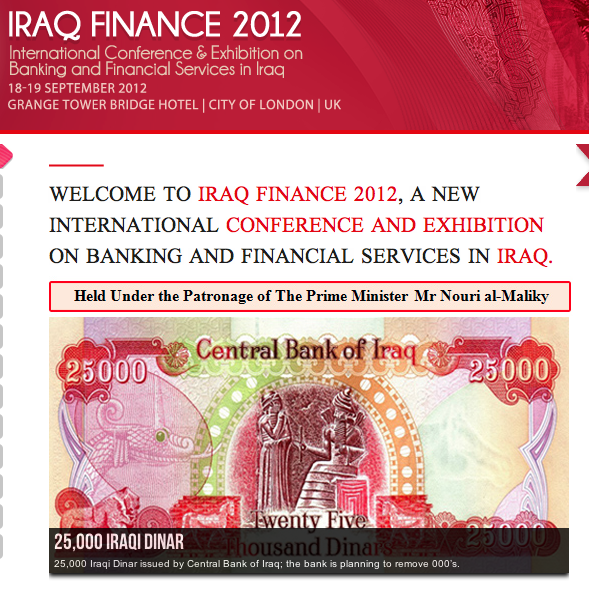 Iraq Finance 2012: dropping of the zero's a possible discussion